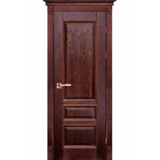 Дверь из массива дуба Аристократ №1 Махагон