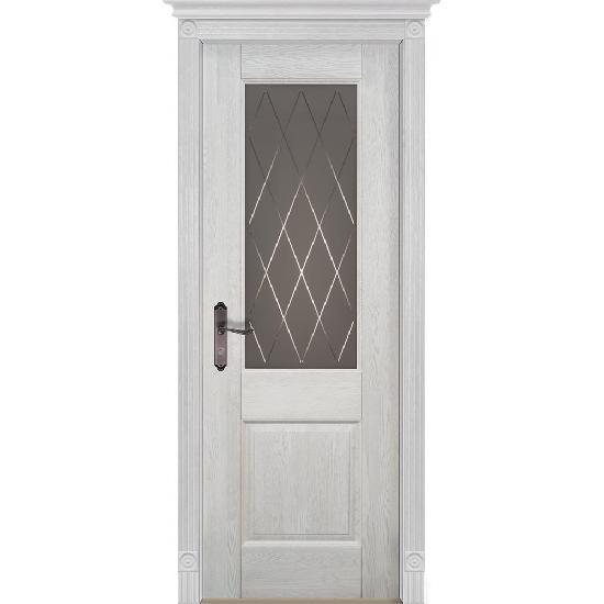 Дверь из массива дуба Verona 2 Белый