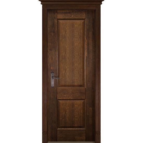 Дверь из массива дуба Verona 4 Античный орех