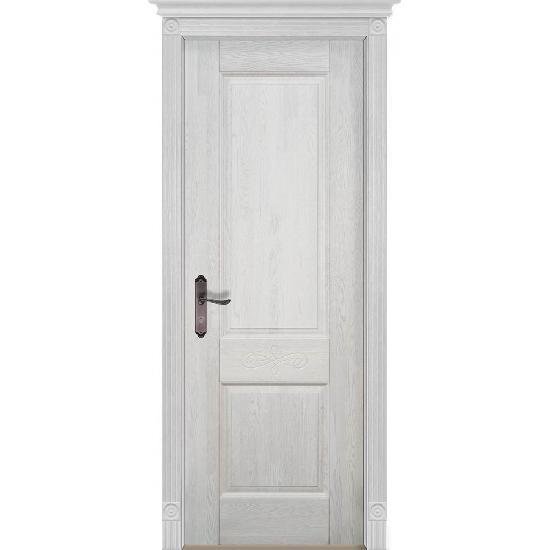 Дверь из массива дуба Verona 4 Белый