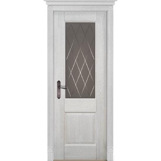 Дверь из массива дуба Verona 5 Белый