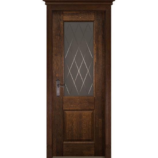 Дверь из массива дуба Verona 5 Античный орех