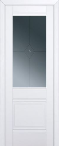 Межкомнатная дверь 2U Узор графит 1